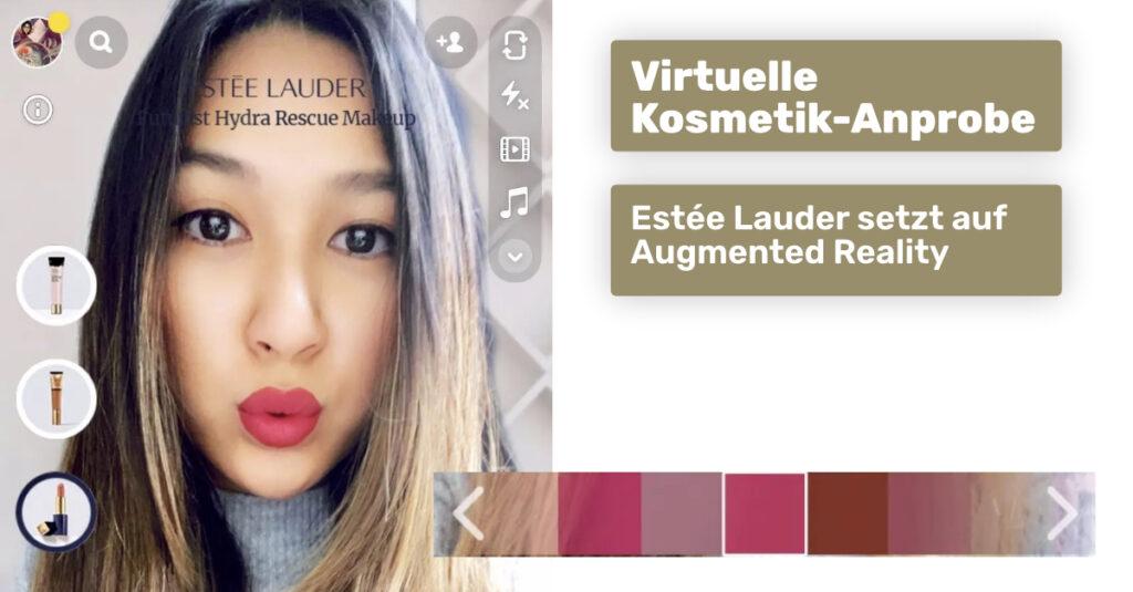 Estee-Lauder-Augmented Reality Anprobe